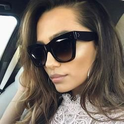 Luxury Rectangle Sunglasses Women Brand Designer PC Frame Gradient Lens Classic Rivet Shades Female Male Fashion Eyewear UV400
