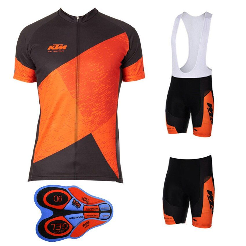 Men's Racing Bike Wear Ktm Pro Team Cycling Jersey 2017 100% Polyester Breathable MTB Bicycle Cycling Clothing Ropa Ciclismo F19
