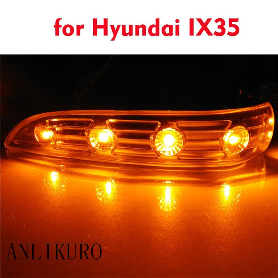 A Pair Left and Right Rearview Mirror Lamp for 09-15Hyundai IX35 rear view mirror turning signal LED light side lamp