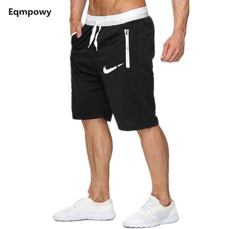 Nouvelle Mode Hommes Sport Plage Shorts Pantalons Coton Bodybuilding Survêtement Fitness Court survêtement décontracté Gymnases Hommes Shorts