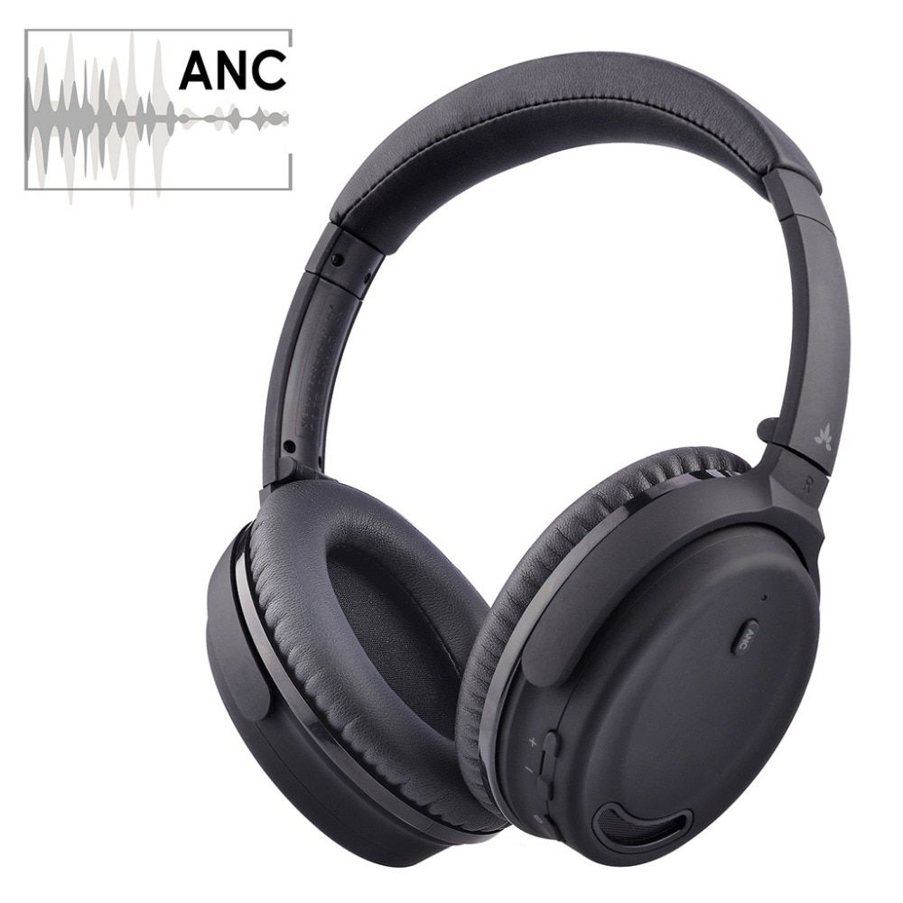 Avantree Bluetooth 4.1 Active Noise Cancelling Headphones with Mic, Wireless / Wired Super Light Comfortable Foldable Stereo ANC