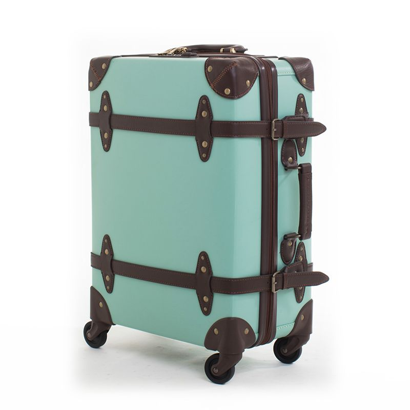 Letrend Fashion Vintage Suitcase Wheels Leather Rolling Luggage Spinner Women Retro Trolley Cabin Travel Bag Men Carry On Trunk