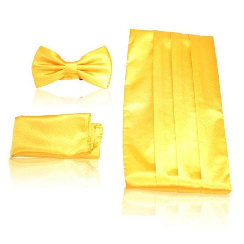 2019 men's Cummerbunds pocket square solid bow tie set Sash wide Belts ceremonial belt