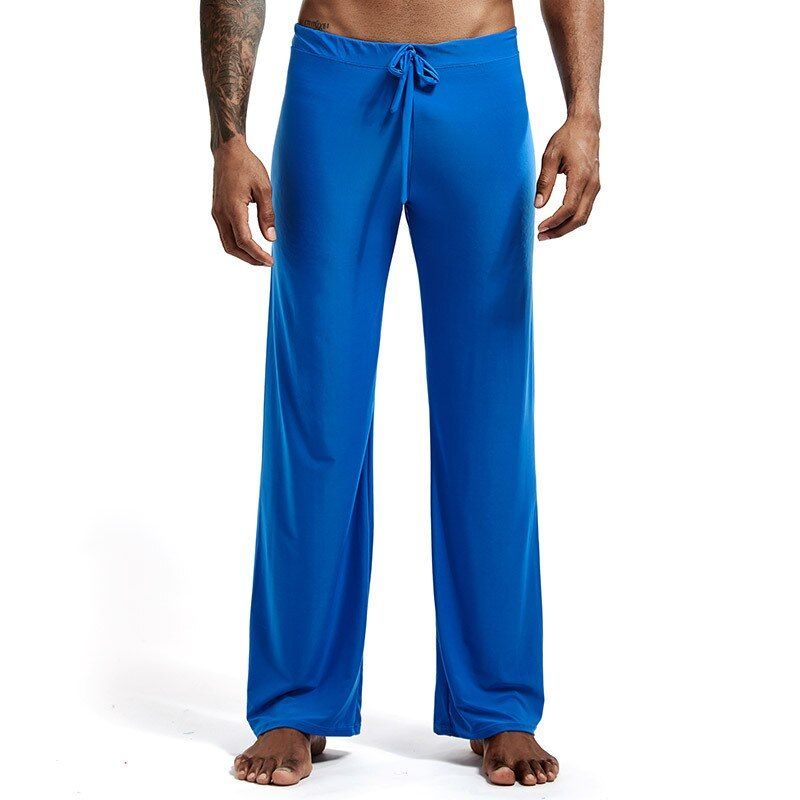 6 couleurs Sexy pantalons de Yoga pour hommes Pyjamas de glace hommes vêtements de nuit Pyjamas de nuit pantalons de bain vêtements