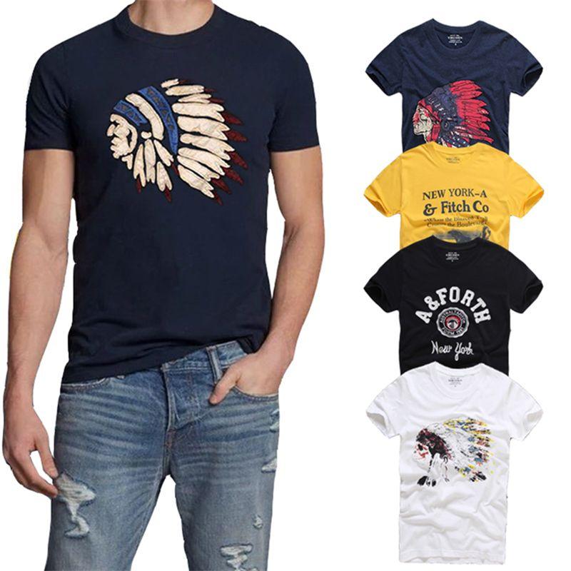 21 Цвета наивысшего качества AFS Лето Для мужчин футболка 100% хлопок короткий рукав Футболка hollistic Для мужчин S-3XL Костюмы футболка Homme