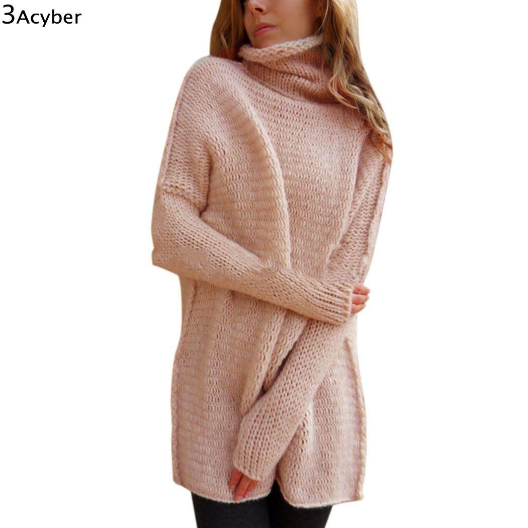 Fanala зимний свитер Для женщин Рождество длинные свитера трикотажные черепаха Средства ухода за кожей шеи толстые теплые Для женщин свитер и ...