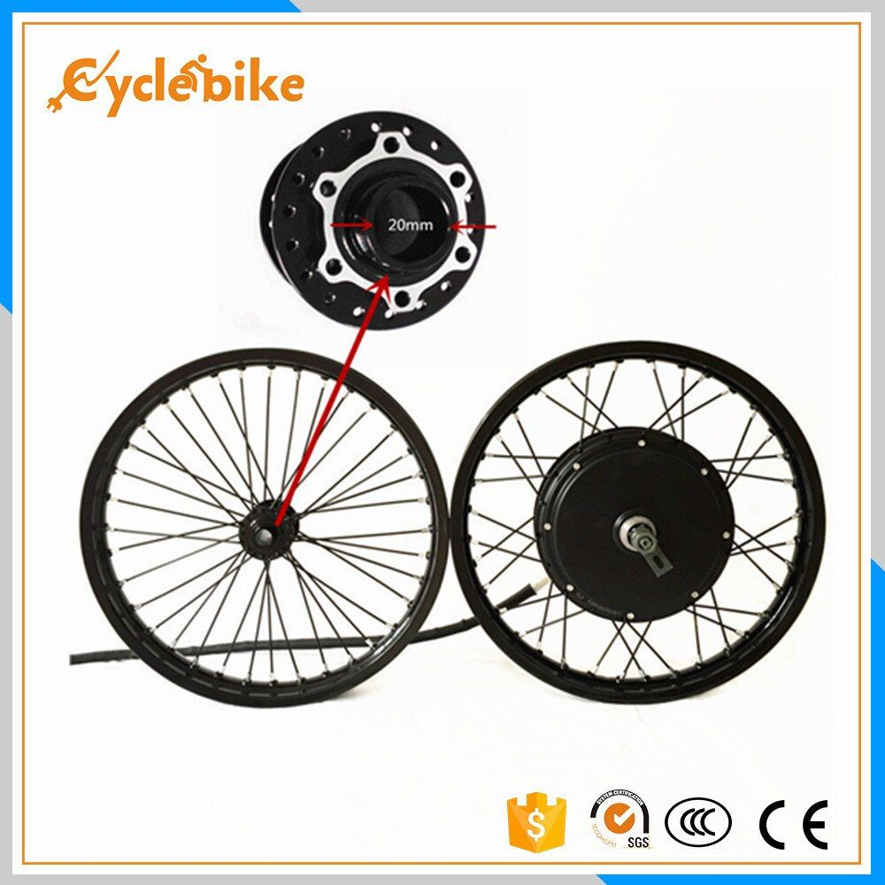 50H QSV3 48v-120v 5000w electric bike hub motor wheel macthing with front wheel with hub 20mm e bike kit