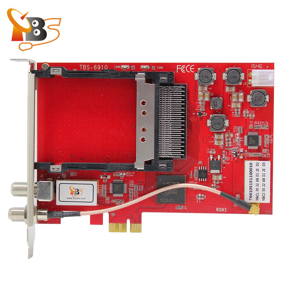 TBS6910 DVB-S2 Dual Tuner Dual CI PCIe Card Supports Blindscan Watching and Recording Satellite TV/PayTV on PC