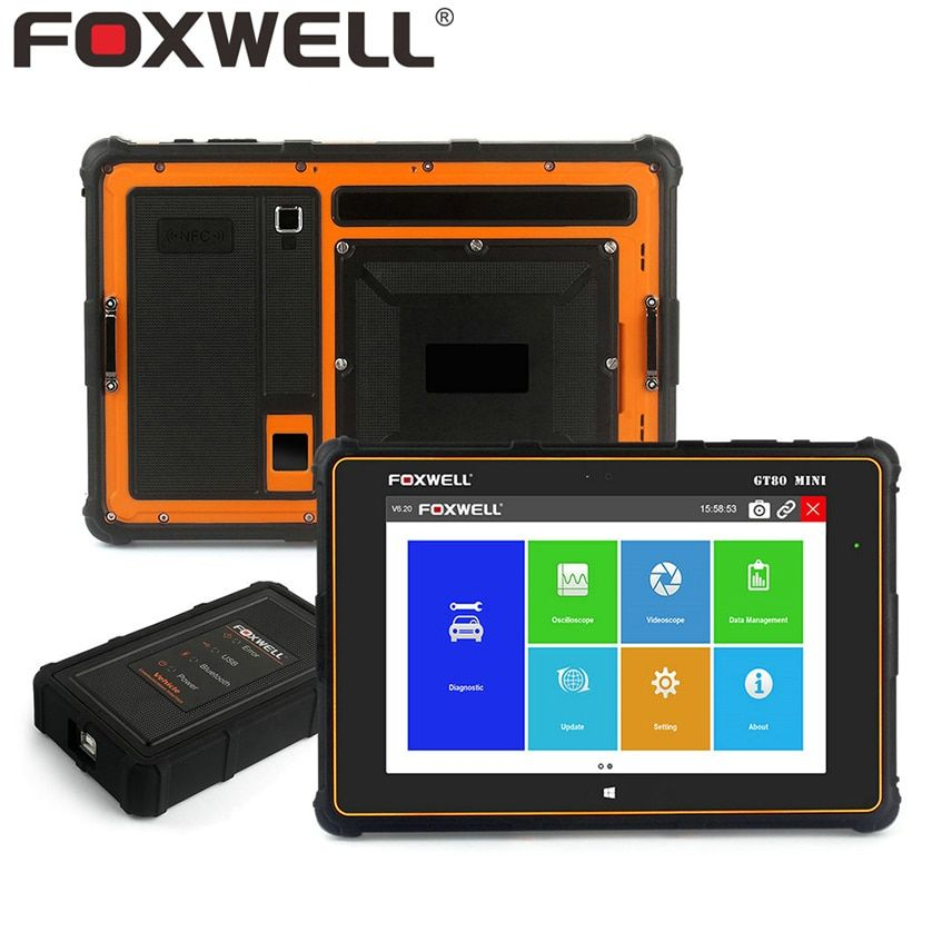 FOXWELL GT80 Mini Full System Diagnostic Tool Car OBD OBD2 Injector Coding EPB DPF Airbag SRS ABS TPMS Reset Automotive Scanner