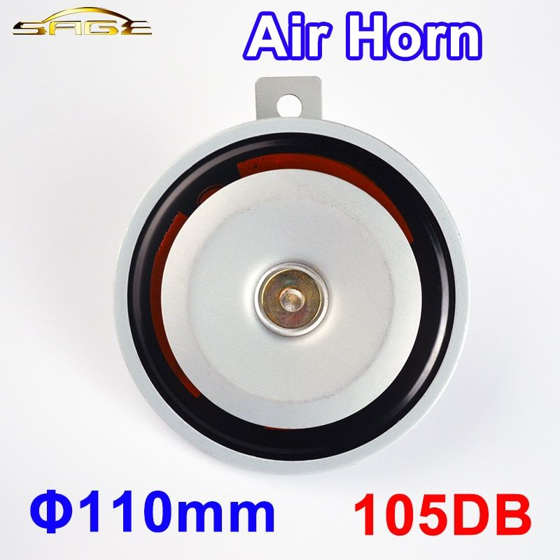 TEHOTECH Diameter 110mm 12V 105DB Electric Air Horn Aluminum Coil Silver Color Loud for Bike Truck Car Motorcycle