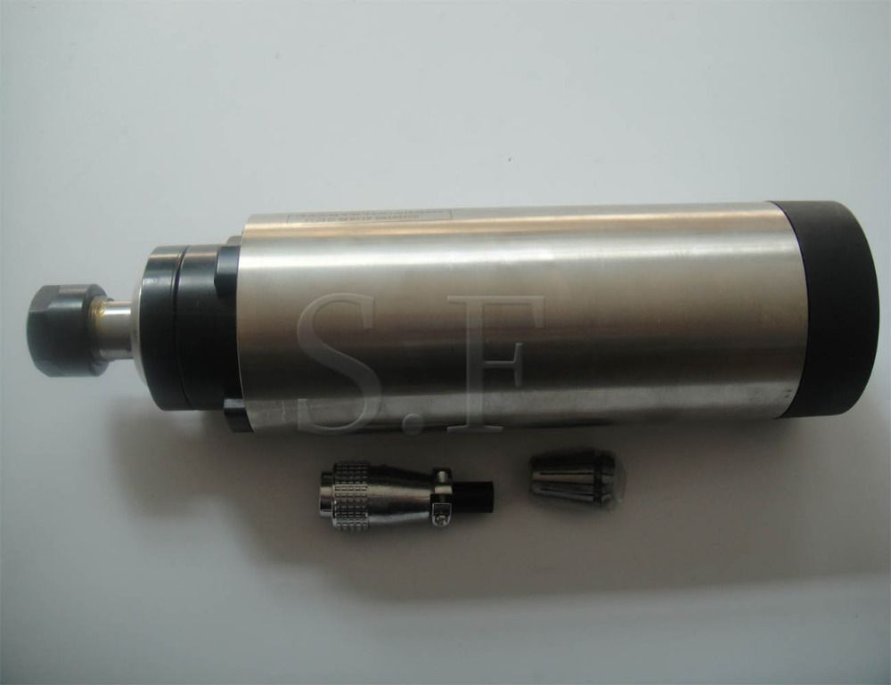 CNC milling spindle 24000RPM diameter 80mm,ER 20 2.2KW air cooling spindle motor 4 bearing for cnc router