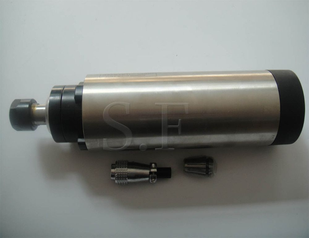 CNC milling spindle 24000RPM diameter 80mm,ER 20 2.2KW air cooling spindle <font><b>motor</b></font> 4 bearing for cnc router