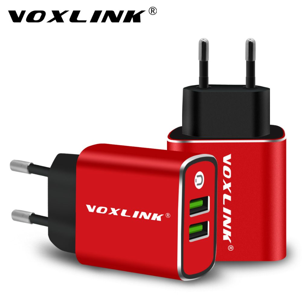 USB Chargeur Mural, VOXLINK 5V3. 1A Universel Portable Double Ports USB Mur Voyage Chargeur Adaptateur UE Plug pour iPhone iPad Samsung
