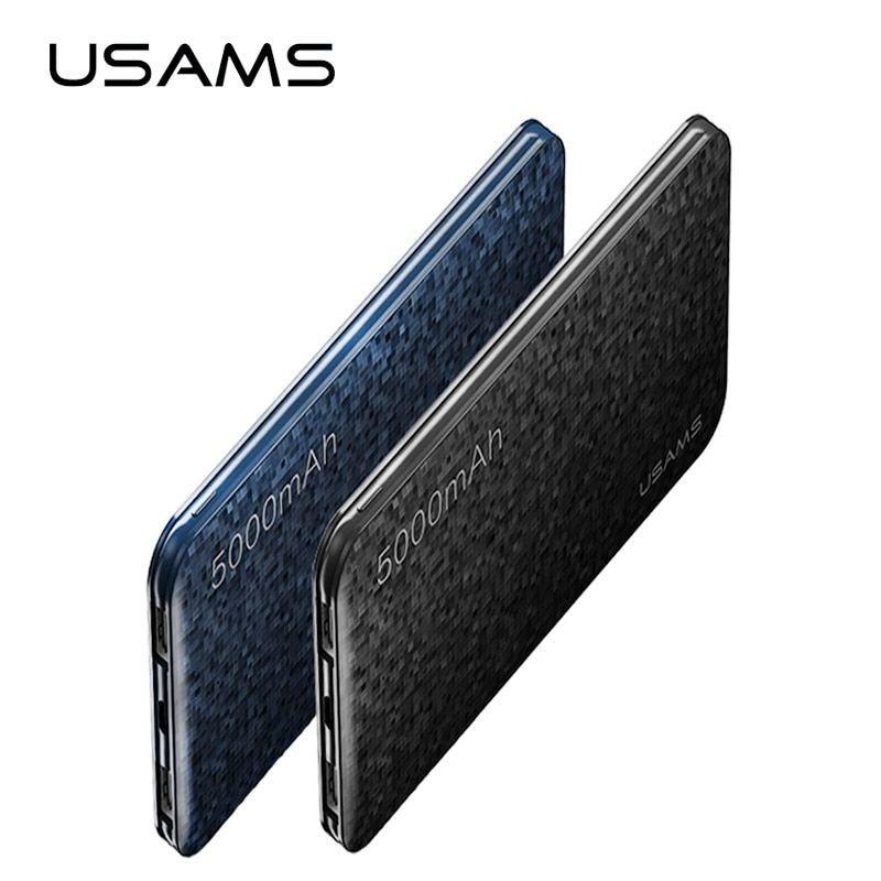 Power bank USAMS Mosaic Ultra Slim 5000mAh Powerbank for iPhone Mobile Phone