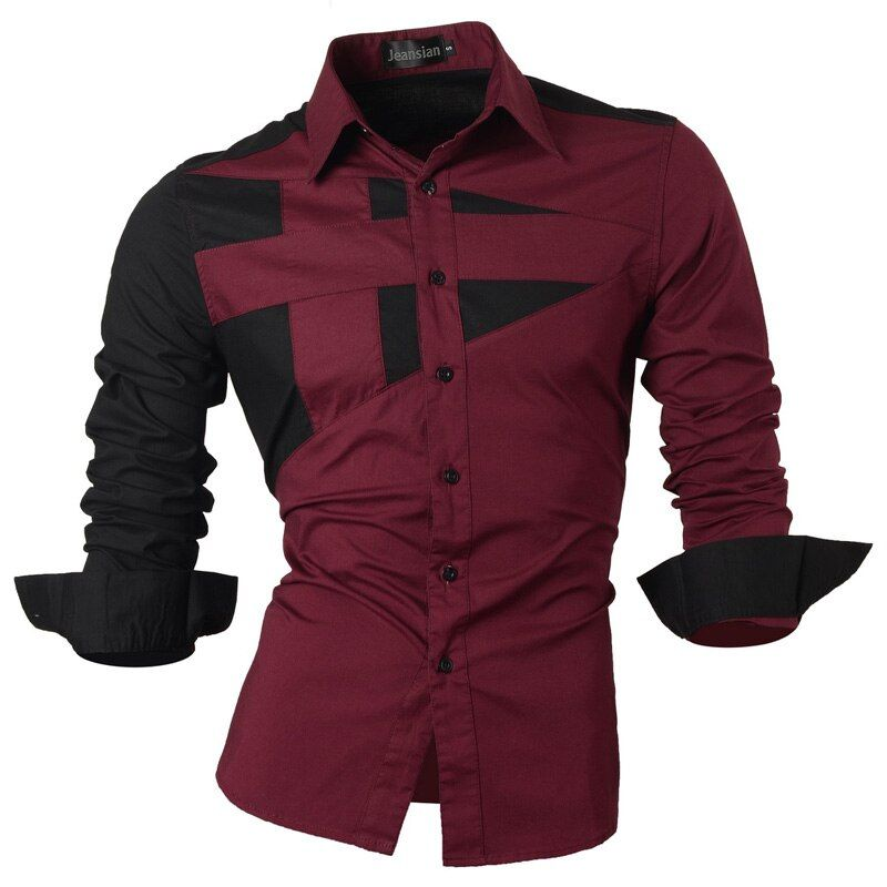 2018 Spring Autumn <font><b>Features</b></font> Shirts Men Casual Jeans Shirt New Arrival Long Sleeve Casual Slim Fit Male Shirts Collection S