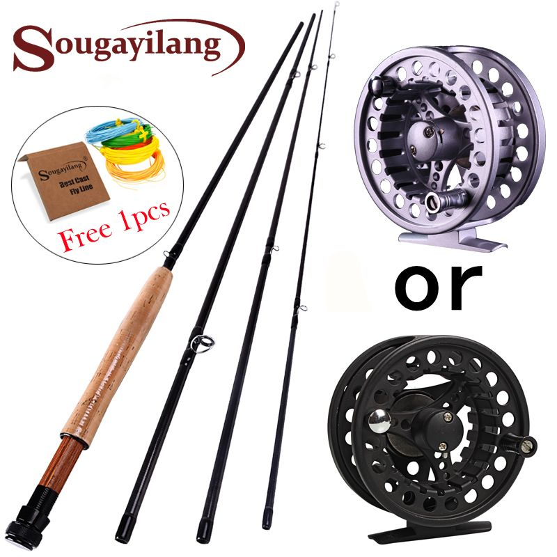 2.7M Fly <font><b>fishing</b></font> Rod for 4 Sections Fly Rod Reel line Combo Set 5/6 Super Light Carbon <font><b>Fishing</b></font> Pole Bamboo Fish Tackle Pesca