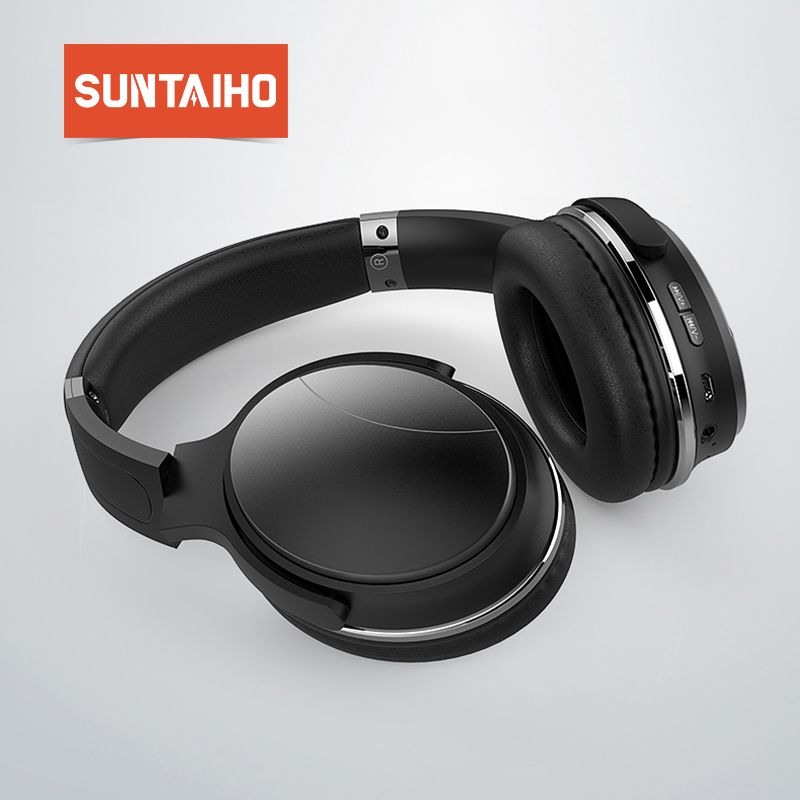 Suntaiho HiFi stereo earphones bluetooth headphone for Xiaomi Active Noise Cancelling Wireless Bluetooth Headset with microphone