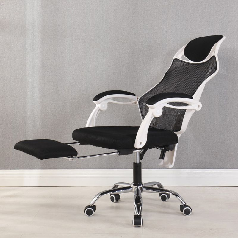 Ergonomic Computer Desk Office Mesh Recliner Chair With Footrest Headrest Perfect for Home Office Furniture Swivel Racing Chair