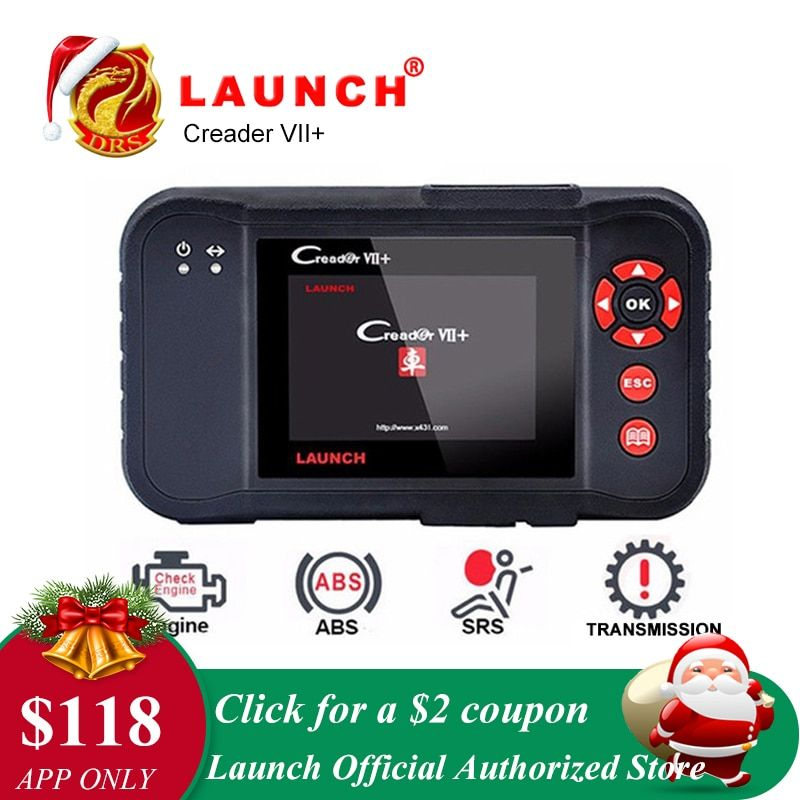 Launch X431 Creader VII Plus VII+ Auto Code Reader OBD2 OBD 2 Scanner Launch CRP123 OBDII Diagnostic Tool Automotive Scan Tool