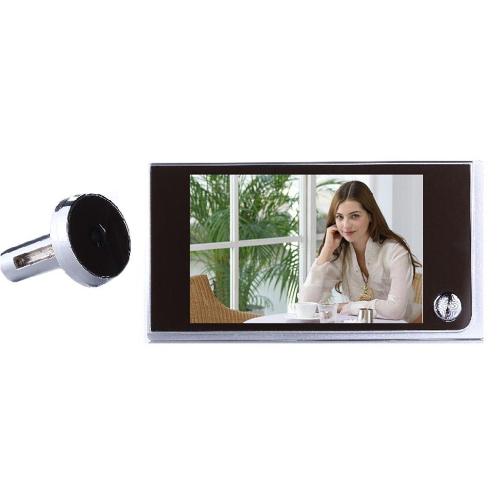 Multifunction Home Security 3.5inch LCD Color Digital TFT Memory Door Peephole Viewer Doorbell Security Camera 2018 Top Sale
