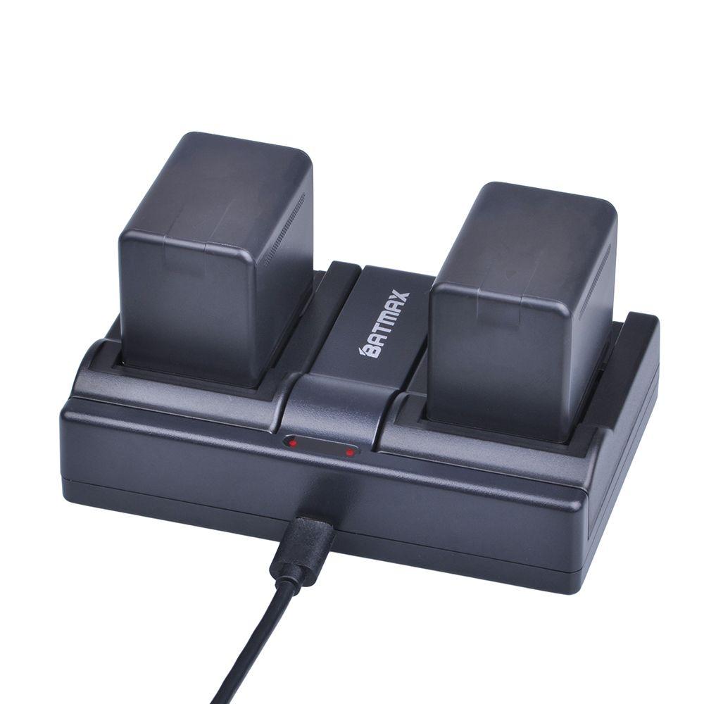 2Pcs 3900mAh VW-VBT380 VBT380 VW-VBT190 Battery+ USB Dual Charger for Panasonic HC-V720,HC-V727,HC-V730,HC-V750,HC-V760,HC-V770