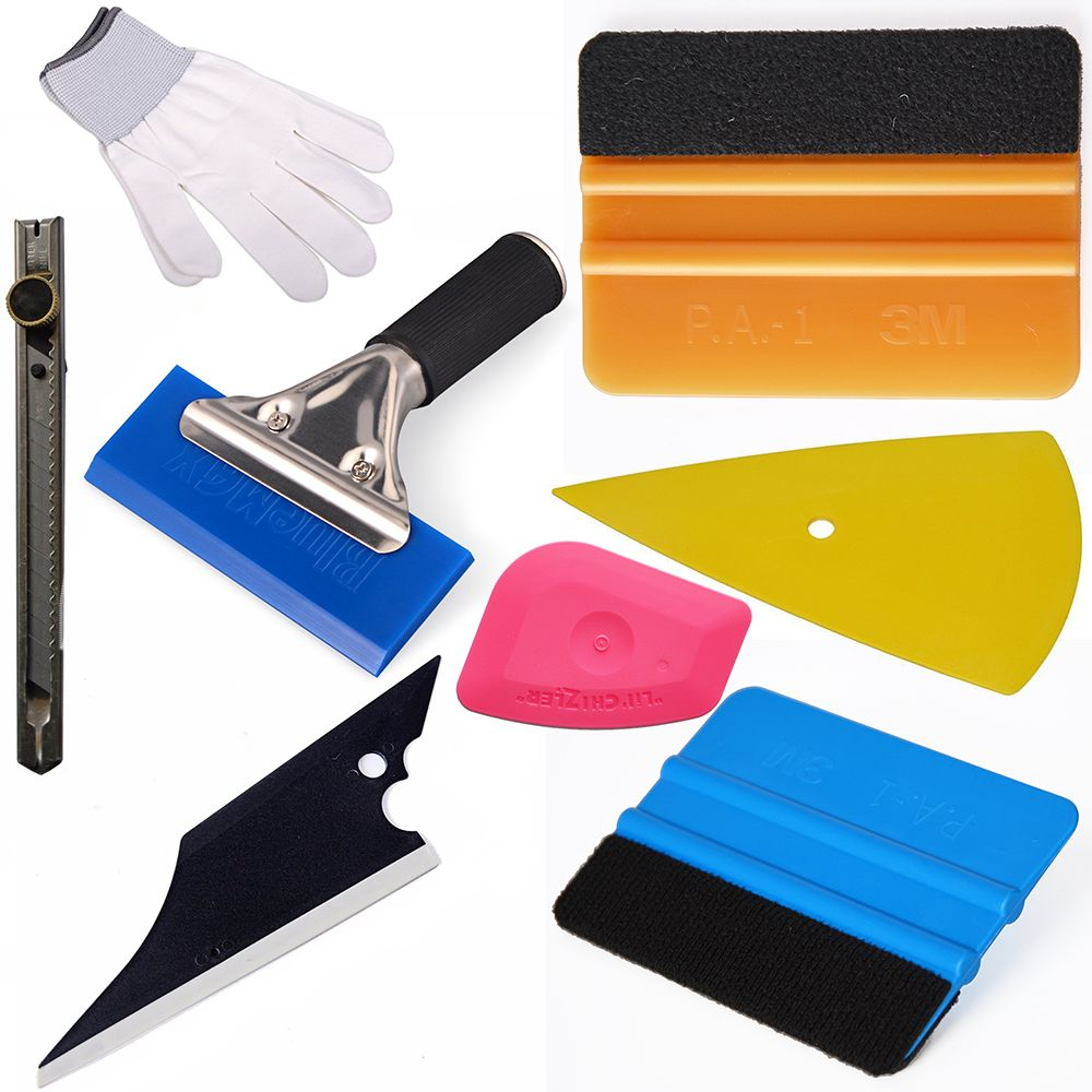2017 new Car Window Tint Tools Kit for Auto Vinyl Film Tinting Soft Scraper 3M Squeegee Car Wrap Cutter Car Wrap Tools Set AT020