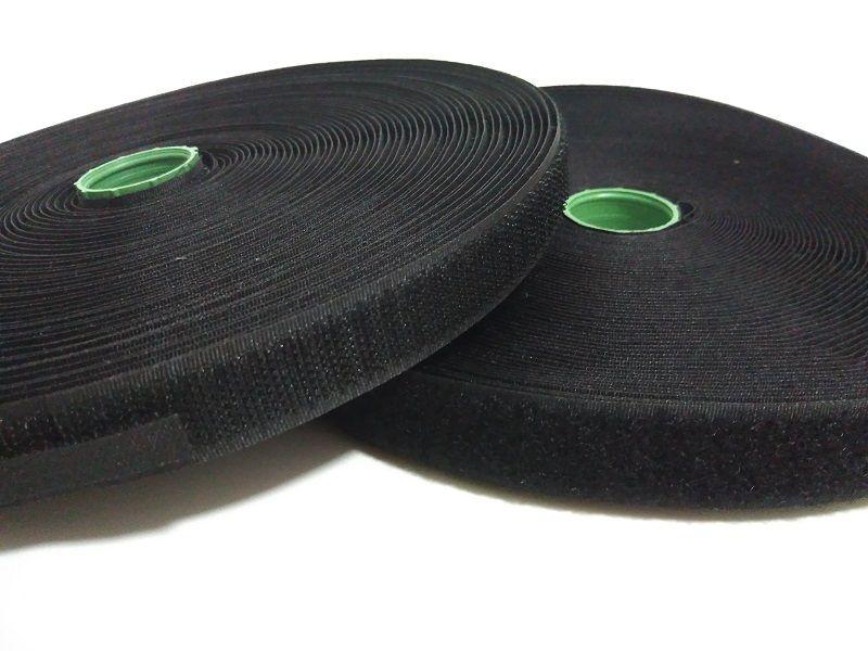 2 rouleaux/ensemble 2 cm * 25 mètres de largeur coudre sur crochet et boucle de fixation bande pour vêtements blanc ou noir non auto-adhésif crochet boucle tissu