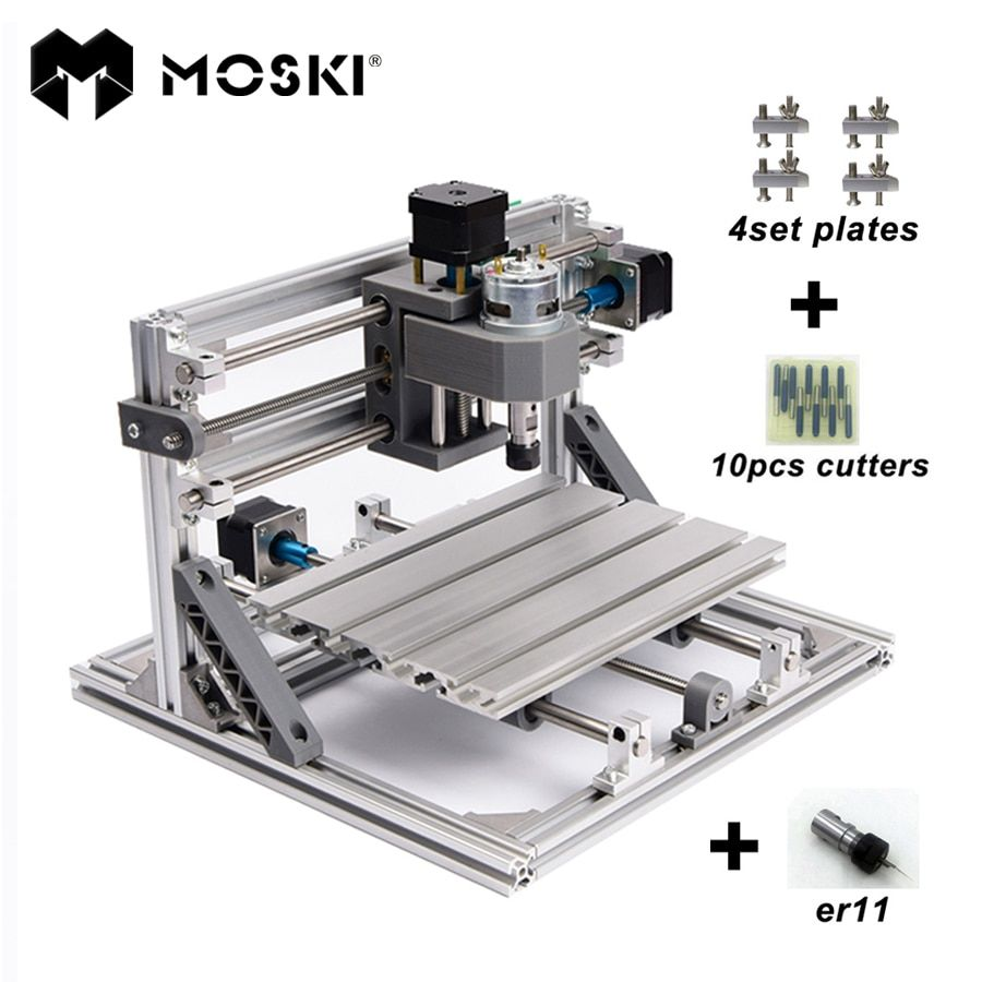 MOSKI,CNC 2418 with ER11,mini cnc laser engraving machine,Pcb Milling Machine,Wood Carving machine,cnc router,cnc2418,best <font><b>gifts</b></font>