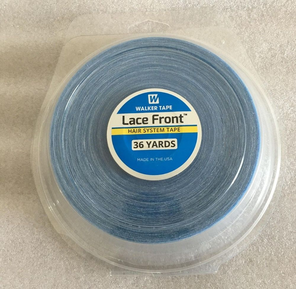 1 roll/Lot 36 yards Big roll Blue lace front wig tape toupee adhesive tape hair system tape width 1.27/1.9/2.54 cm