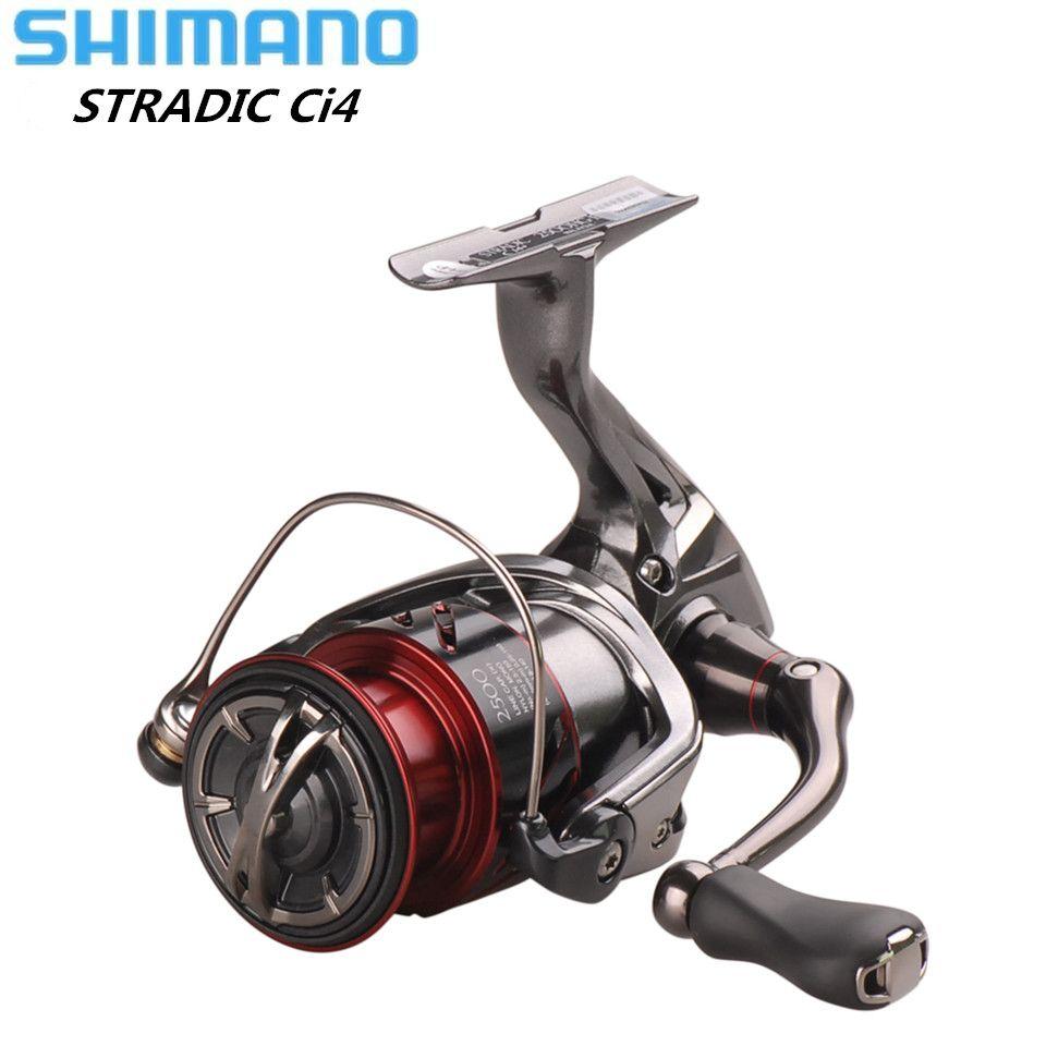 Original SHIMANO STRADIC CI4+ FB1000 1000HG 2500HG C3000HG Spinning Wheel 6.0:1 Lure Fishing Reel Saltwater Carp Fishing Tackle