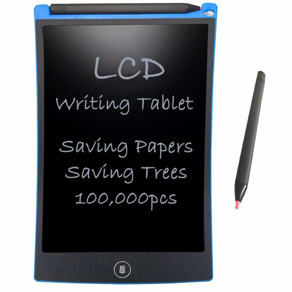 NEWYES 8.5 Electronic eWriter LCD Writing Tablet Drawing <font><b>Board</b></font> Paperless Digital Graffiti Tablets Notepad Rewritten Pad(Blue)