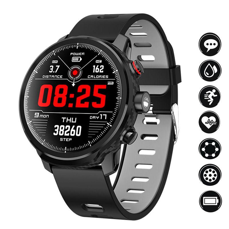 L5 Smart Uhr Männer IP68 Wasserdicht Mehrere Sport Modus Herz Rate Wetter Prognose Bluetooth Smartwatch Standby 100 Tage