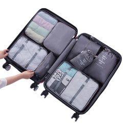 8 Pcs Voyage Sacs Ensembles Étanche Emballage Cube Portable Vêtements De Tri Organisateur Bagages Accessoires Fournitures Produits