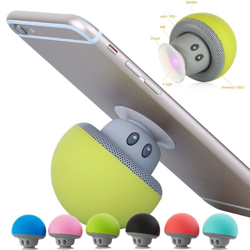 Musically Pop Phone Holder soporte speakers mp3 player bluetooth Little mushroom Stand for Xiaomi iPhone Samsung Huawei Socket