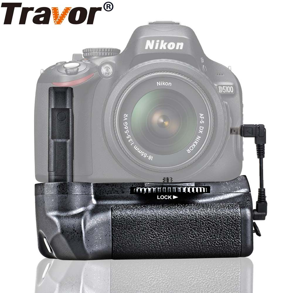 Travor Battery Grip Holder For Nikon D5100 D5200 D5300 <font><b>DSLR</b></font> Camera work with EN-EL14