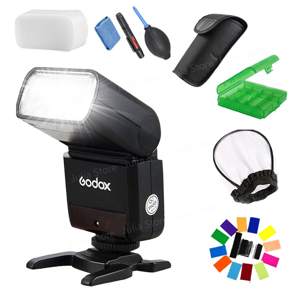 Godox Mini Speedlite TT350S TT350N TT350C TT350O Camera Flash TTL HSS GN36 for Sony Mirrorless DSLR Camera A7 A6000 A6500 Series