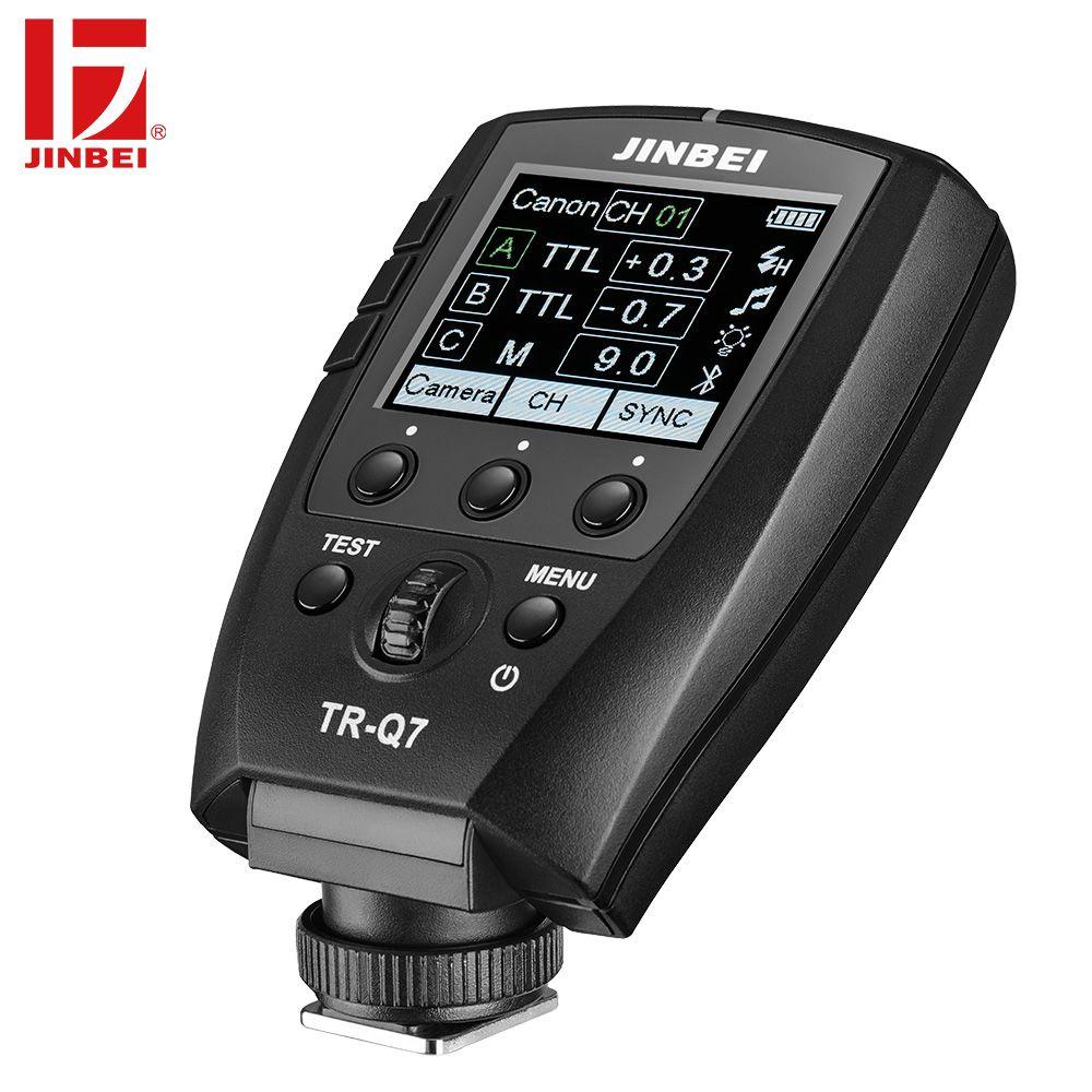 JINBEI TR-Q7 Flash HSS Trigger für Canon Nikon Sony Fuji Olympus Panasonic Radio Fotografie Licht Drahtlose Fernbedienung Sender