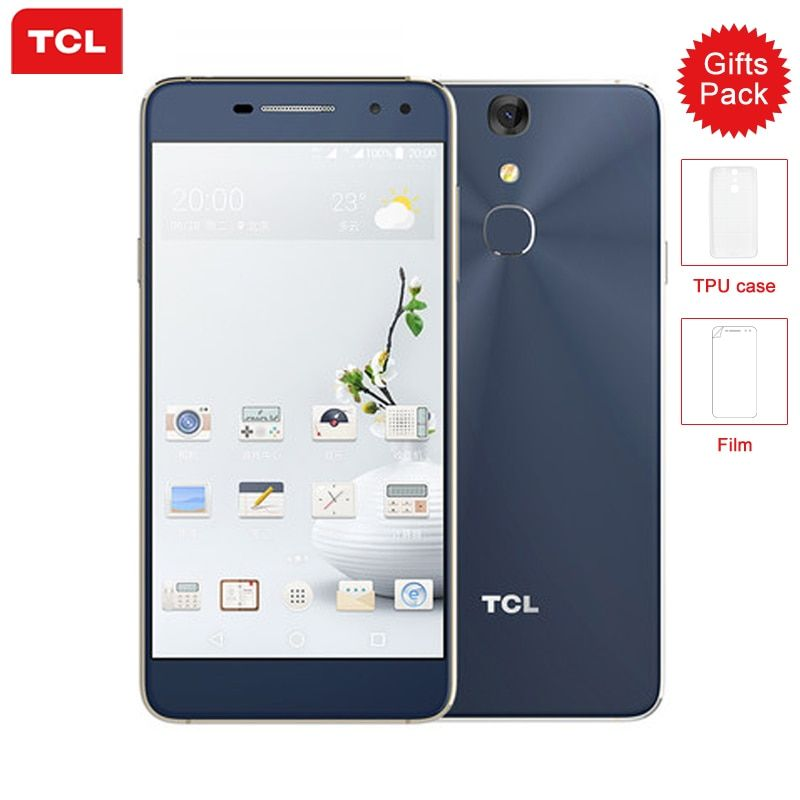 Original TCL 750 Mobile Phone Helio P10 MTK6755M Octa Core 3G RAM 32G ROM 5.2 Inch FHD Screen 8/16MP Camera 4G LTE Smartphone