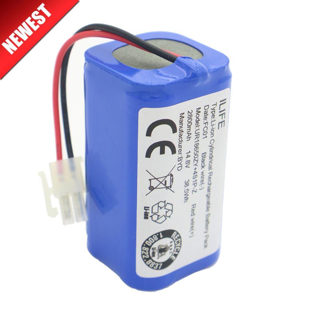 Haute qualité Rechargeable ILIFE ecovacs batterie 14.8 V 2800 mAh robot nettoyeur accessoires pièces pour Chuwi ilife V7s A6 V7s pro