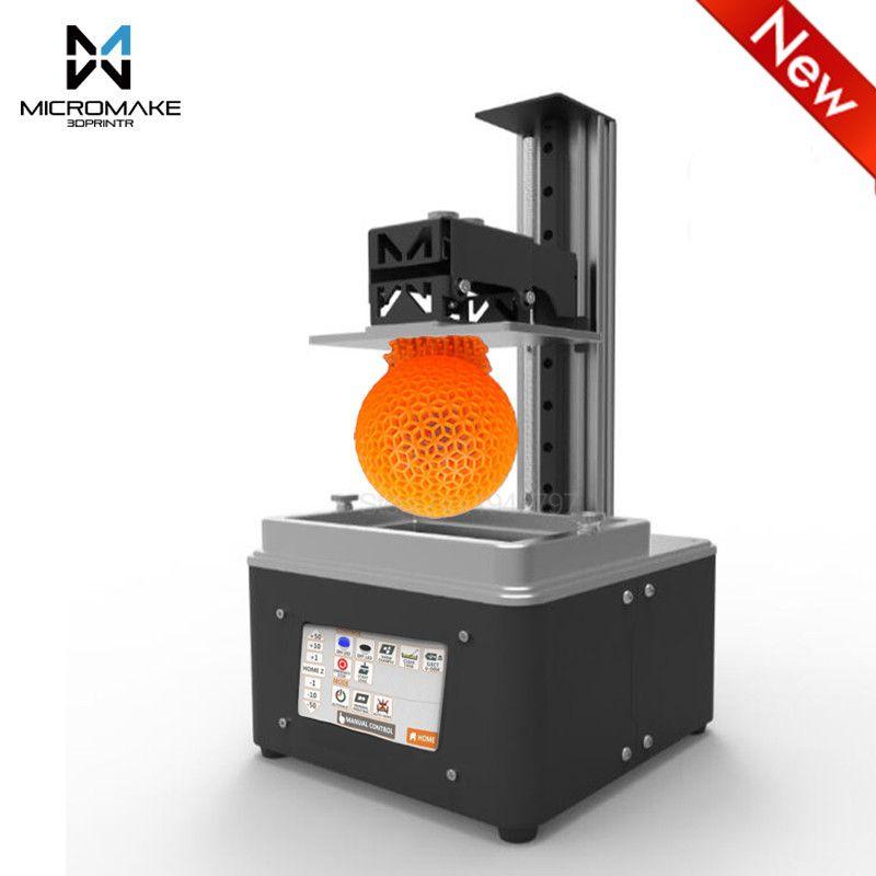 Micromake L3 UV-LED Licht-Aushärtung 405nm harz wifi DLP 3d drucker Auto Slicer-Geschwindigkeit 4,3 ''touch screen sla dlp Impresora geschenk