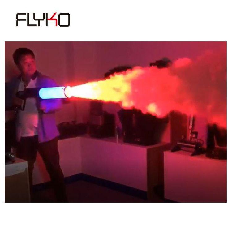 Freies Verschiffen Mini DJ Led CO2 Gun 7 Farben Rohr für bühne wirkung