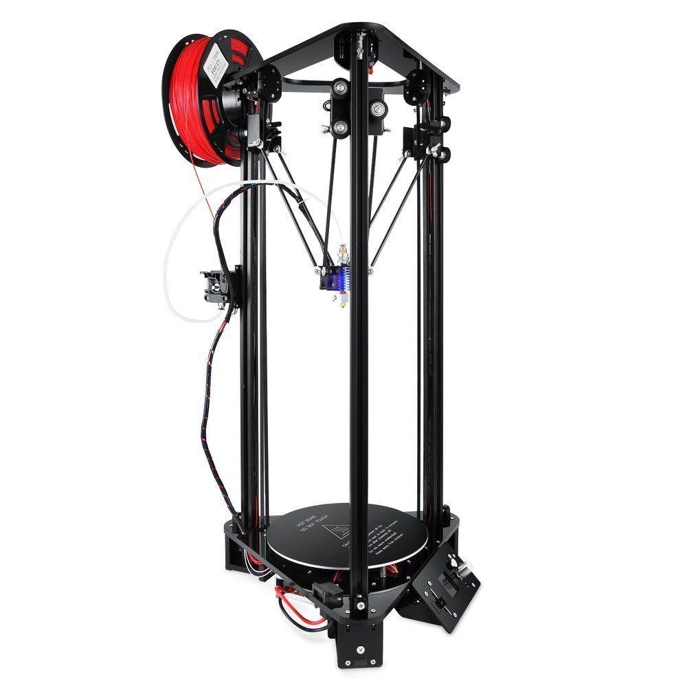 T1 3D Drucker satz Mit Hoher Geschwindigkeit Lcd-farbbildschirm 3 D Druck Kit Kossel Linear Delta Große Druck Größe Einfach Montieren Ähnliche A8 DHL