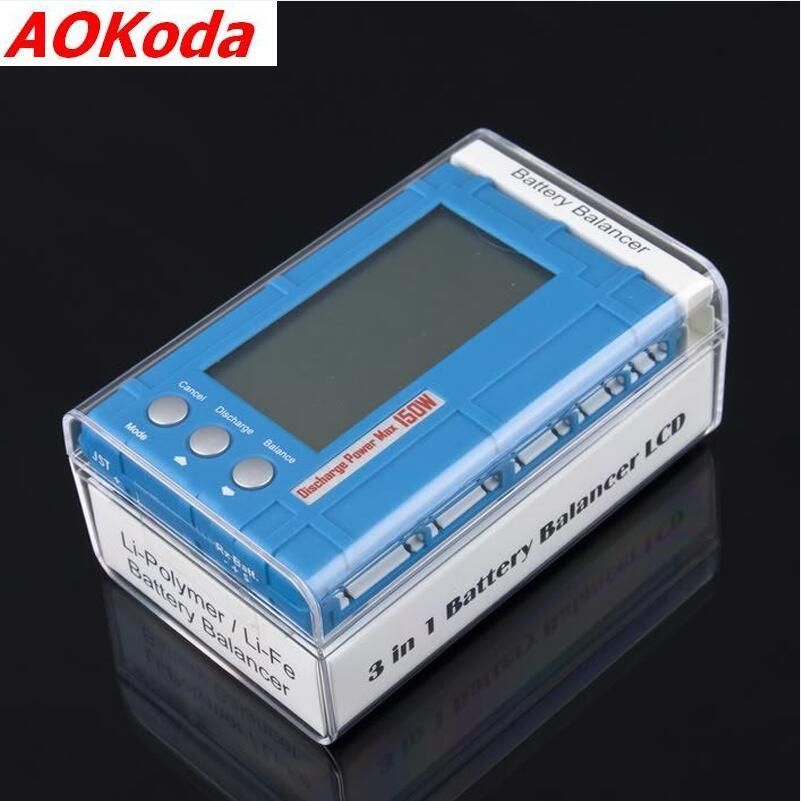 AOKoda 3 in 1 Batterie Balancer LCD, Spannung Anzeige, Batterie Entlader 5 W 50 W 150 W