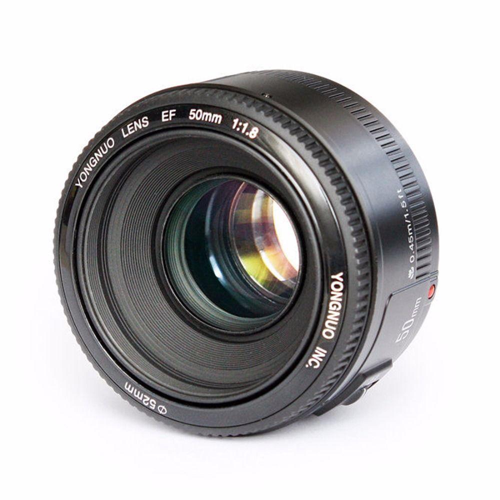 YONGNUO YN EF 50mm f/1.8 AF objectif à ouverture automatique YN50mm f1.8 objectif pour appareils photo reflex numériques Canon EOS