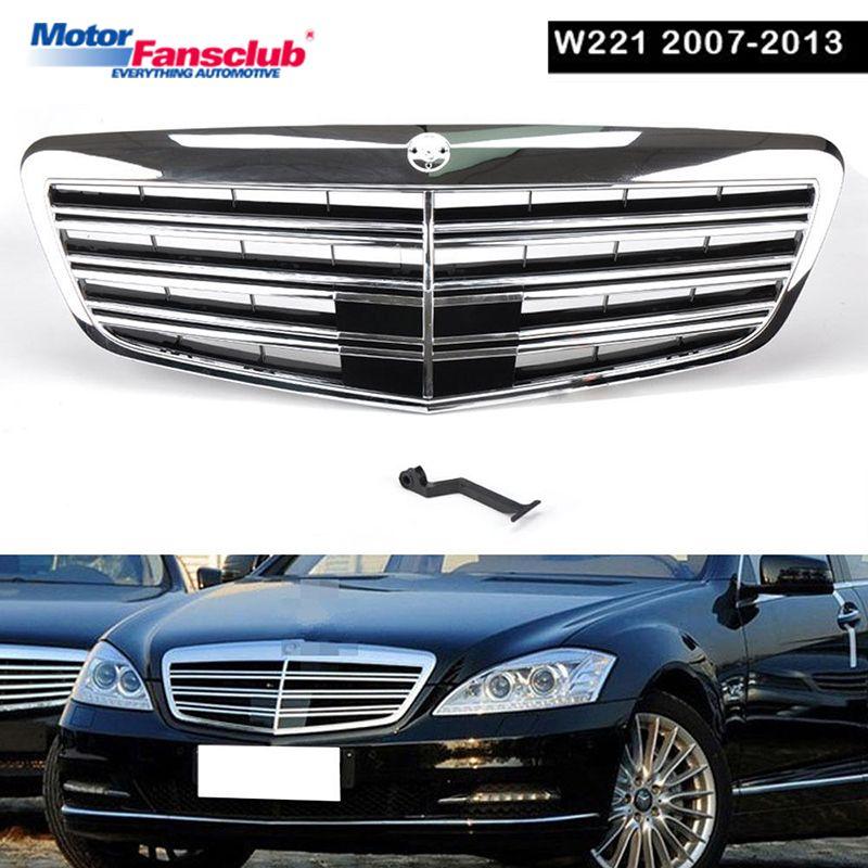 1 stücke Auto Racing Grille Für Mercedes Benz W221 Grill MB S550 S63 2007-2013 S63 S65 Chrome Mesh kühler Front Lower Ändern