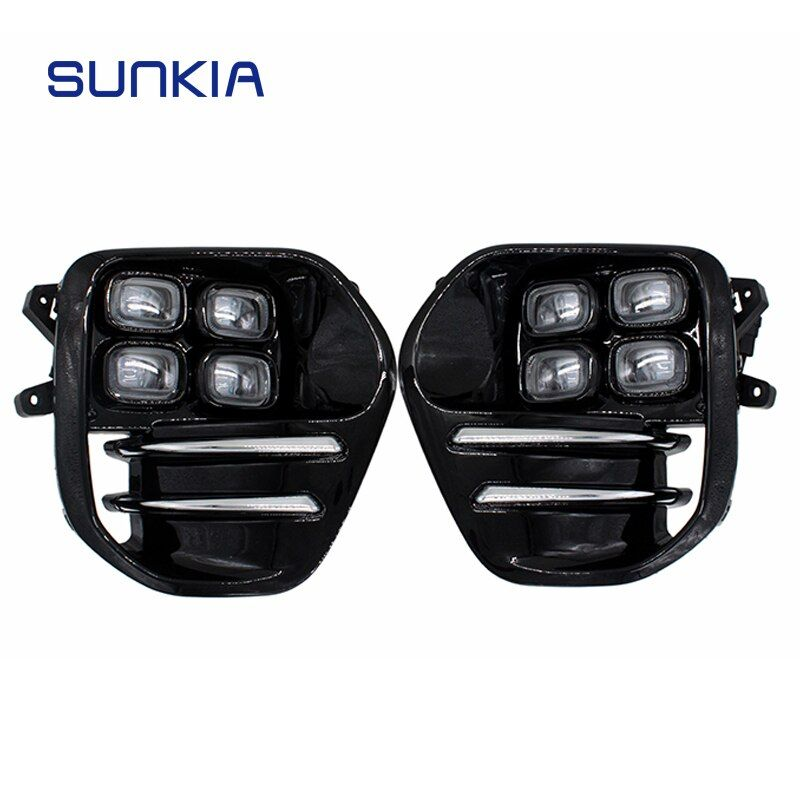 2Pcs/Set SUNKIA for KIA Sportage KX5 2016 2017 2018 DRL Daytime Running Light Fog Lamp Car Styling Day Light Free Shipping