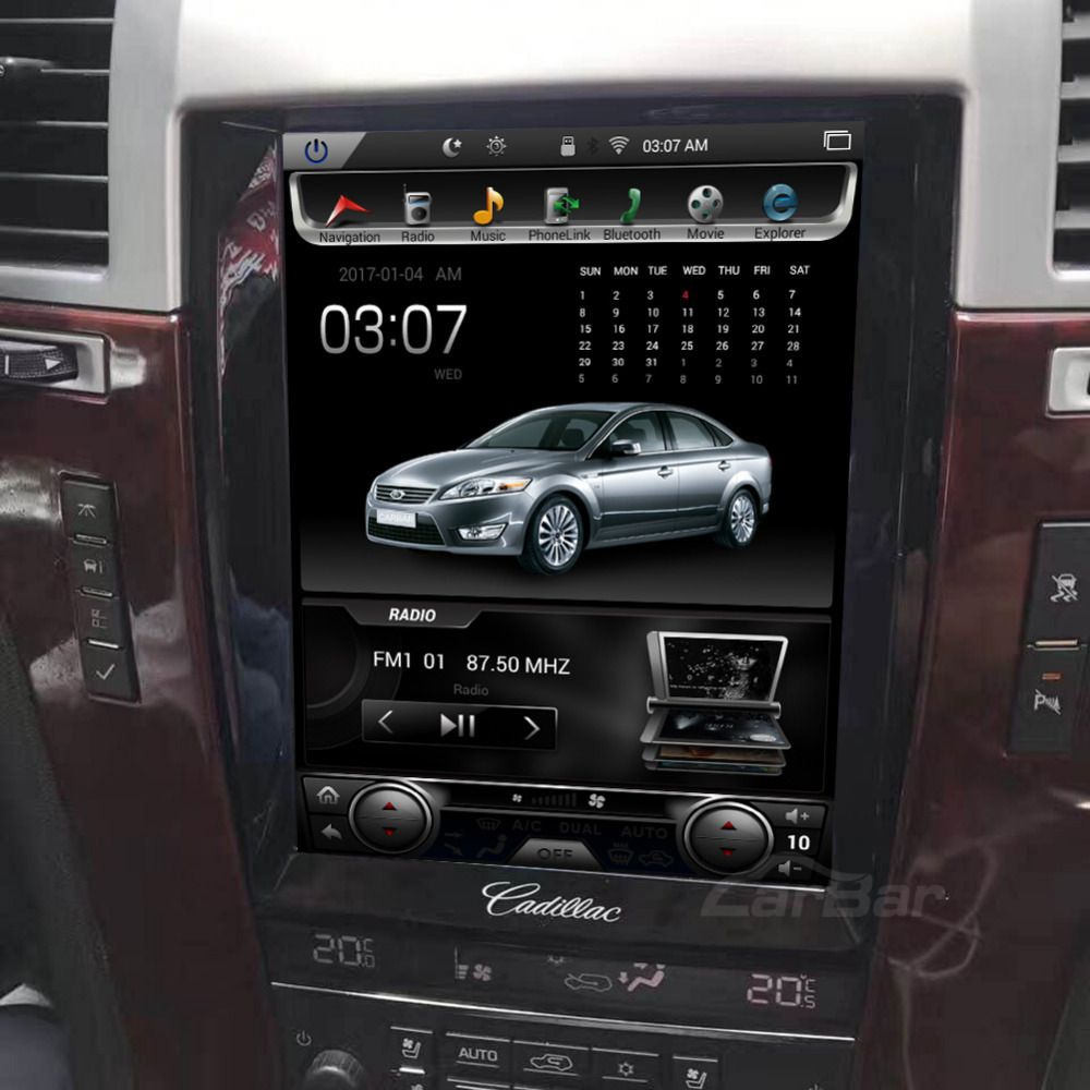 10,4 Vertikale Bildschirm Tesla 1024*768 Android Auto DVD GPS Navigation Radio Audio Player für Cadillac Escalade RAM 2 GB 4 Core
