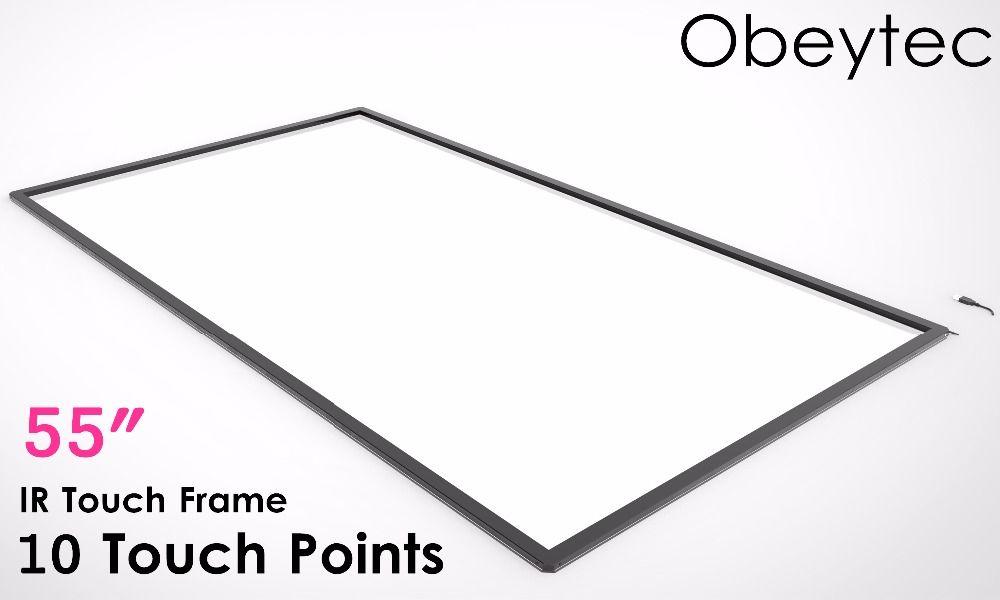 Obeytec 55 Multi Touch IR touchscreen, 10 berührt IR Rahmen, anti-Lichter, Plug and Play, Usb-anschluss, unterstützung Customrized