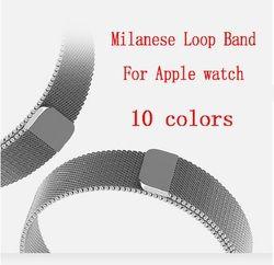 Joyozy Milanese Laço Para Apple Watch Band 44mm/40mm iwatch4 3 2 1 Ligação Pulseira de Aço Inoxidável pulseira de Relógio de Pulso Strap Banda