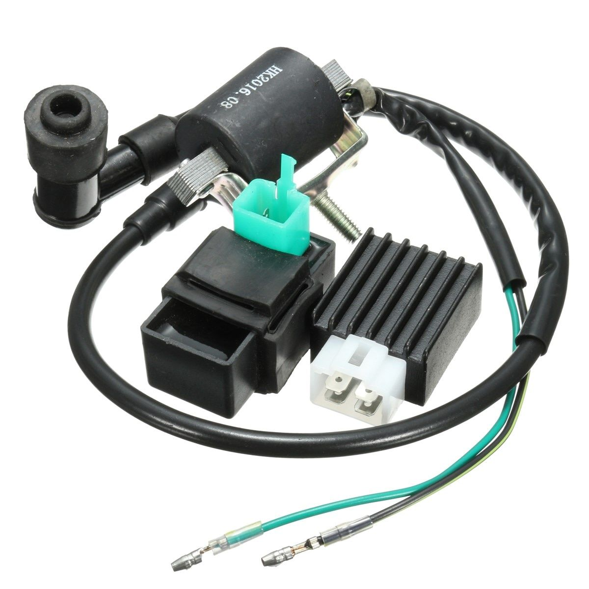 Black Ignition Coil CDI Unit Rectifier Regulator Fits for 110cc 125cc 140cc Pit Dirt Bike